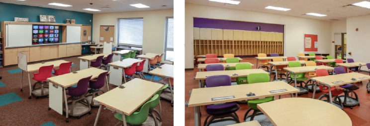 Haskell - Beaver Local School - Ethos Chairs and Echo Tables