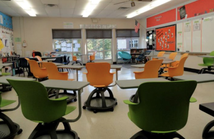 Haskell - Brady Middle School - Ethos Chairs with Universal Arm Tablet - Inner and Outer Circle