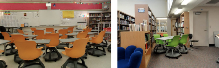 Haskell - Brady Middle School - Ethos Chairs with Universal Arm Tablet
