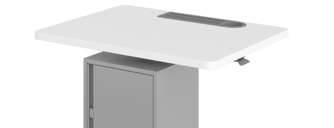 Haskell Fuzion Large Teacher's Lectern with Storage Grommet