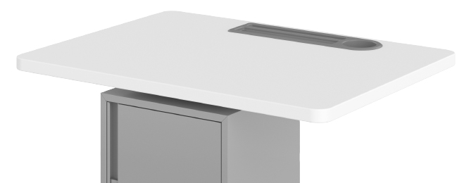Haskell Fuzion Teacher's Lectern with Storage Grommet