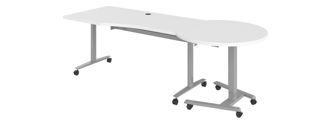 Haskell Fuzion Wave Desk with Podium Same Level