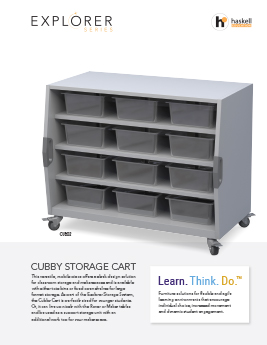Cubby Storage Cart Cut Sheet