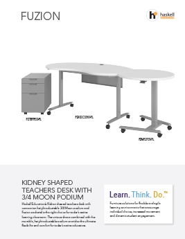Fuzion Kidney Desk/Podium Cut Sheet