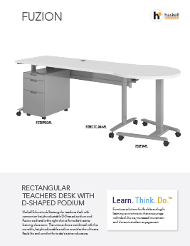 Fuzion Rectangle Desk/Podium Cut Sheet