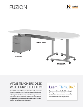 Fuzion Wave Desk/Podium Cut Sheet