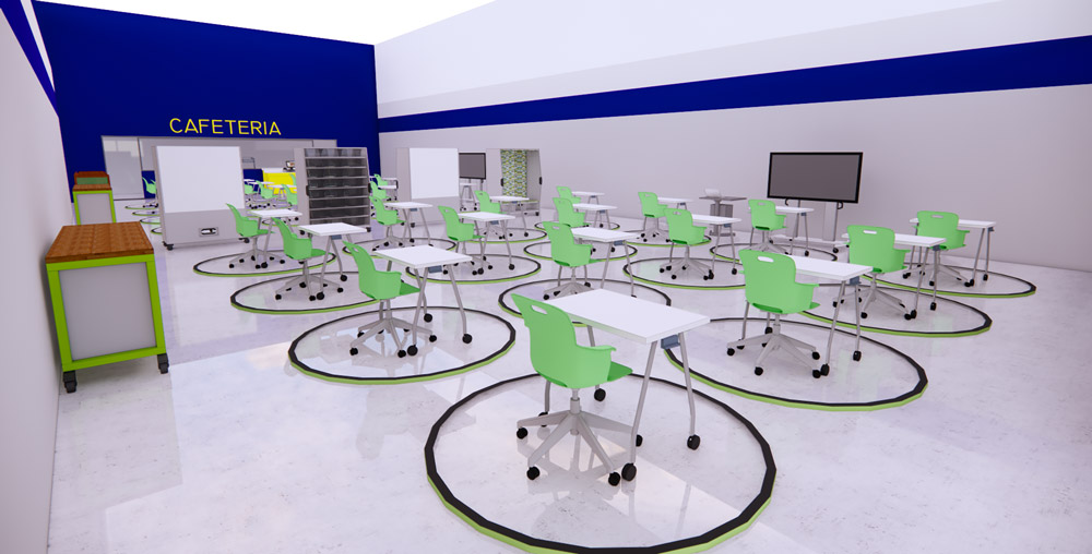 Cafeteria converted with Flexible Furniture | Haskell Education