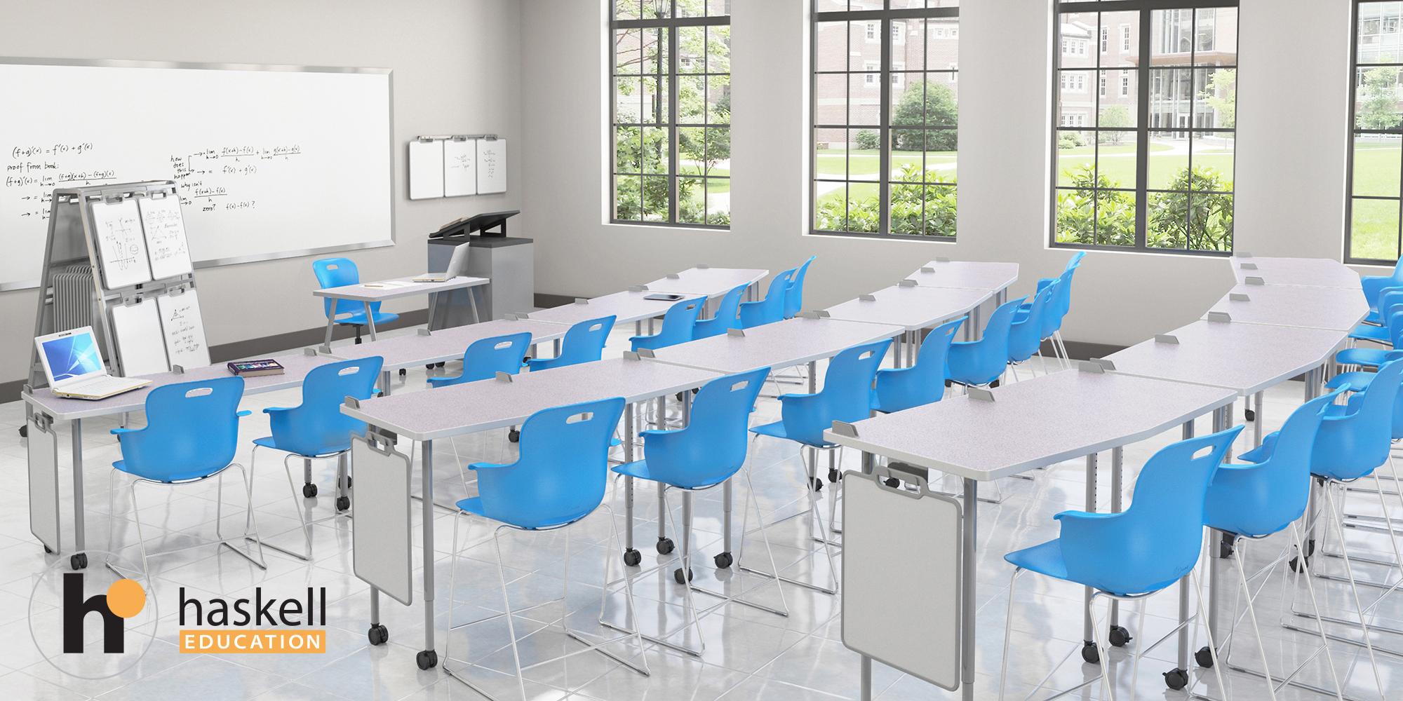 Stadium Seating Classroom SLED AngleShot GREY GLACE