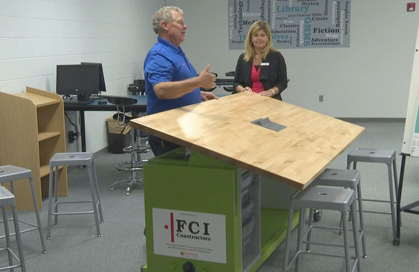ProSpace Interiors, FCI Constructors make donation to Grand Mesa Middle School and District 51 Foundation