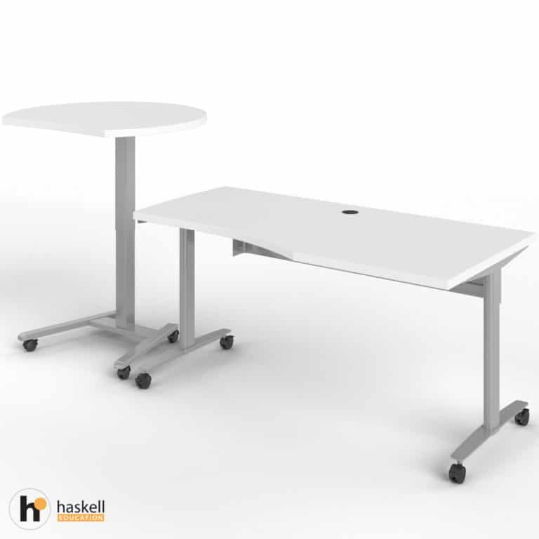 Fuzion Wave Table and Sit to Stand Left Raised