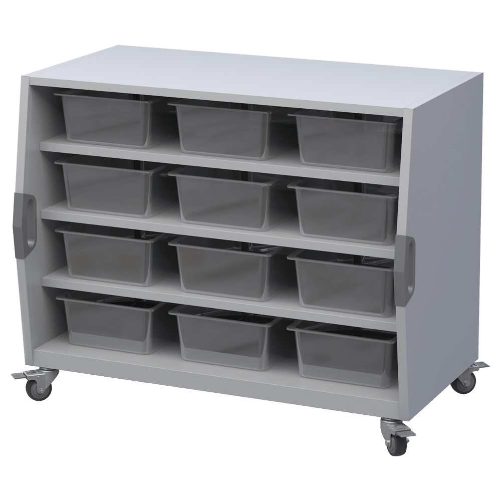 Cubby Storage Cart with Bins