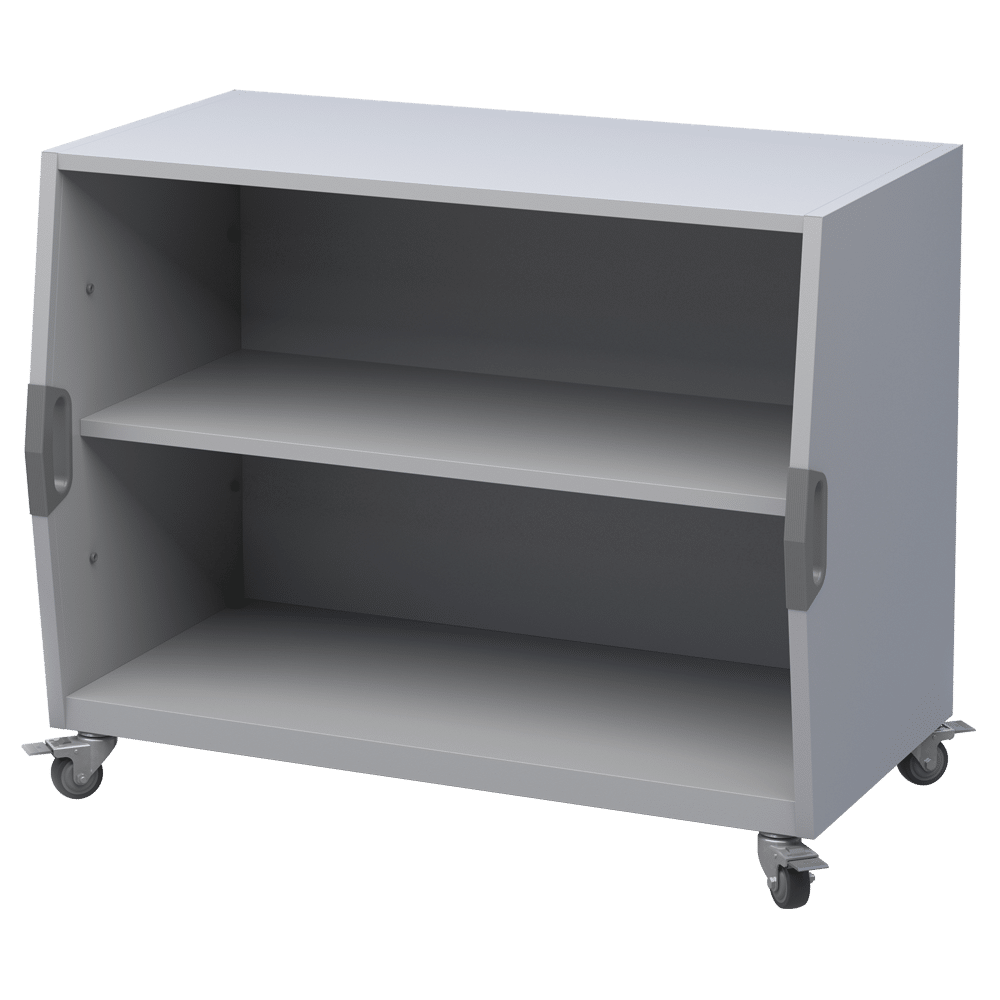 Cubby Storage Cart with Shelves