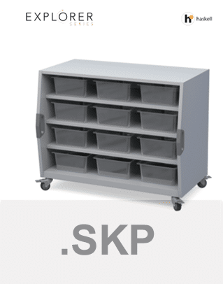 Cubby Storage Cart Sketchup Files