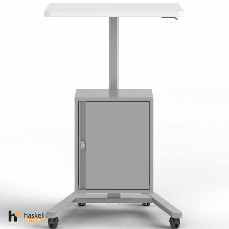 Fuzion Teachers Lectern Standard with Storage Cabinet Front Raised
