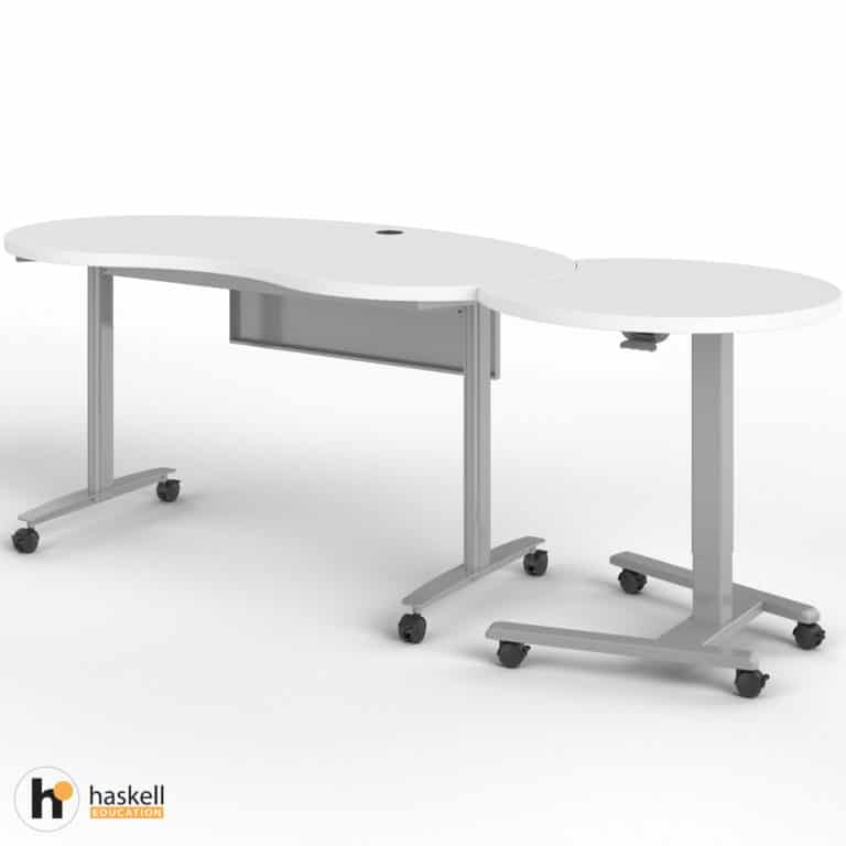 Fuzion Kidney Table with Companion
