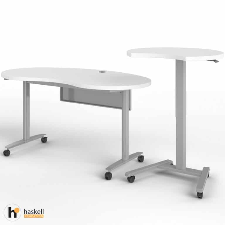 Fuzion Kidney Table with Companion Raised