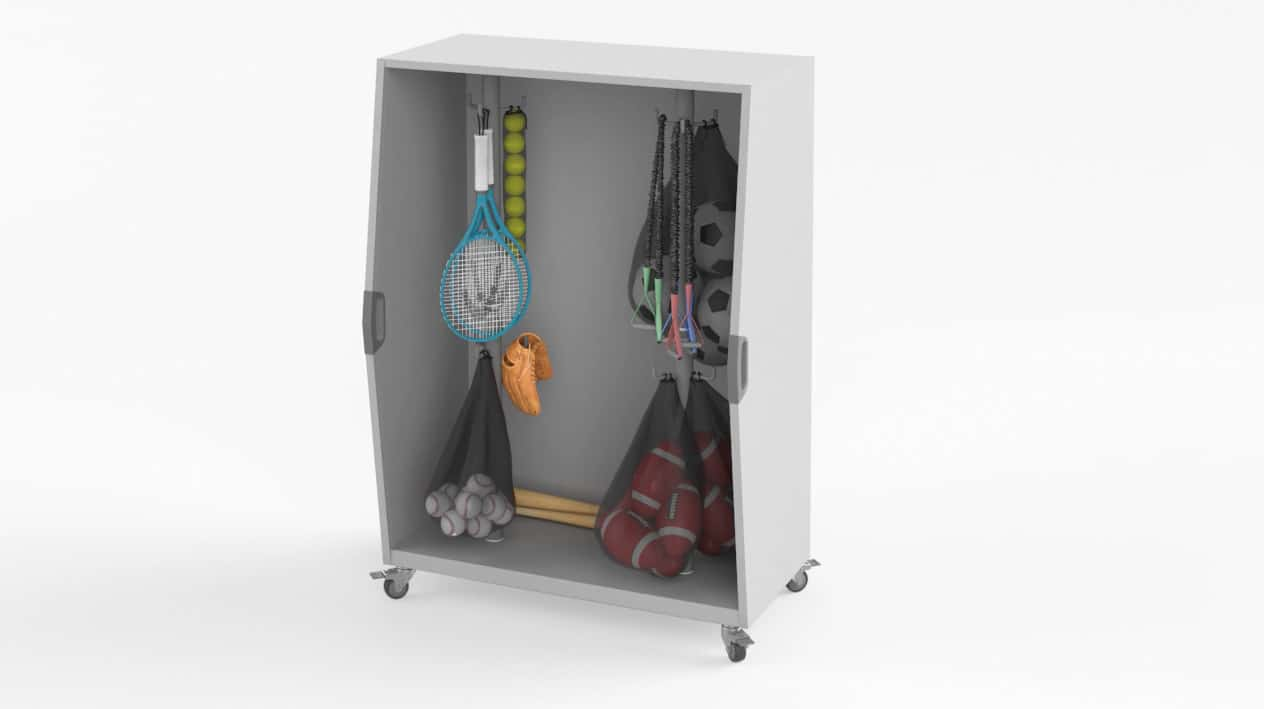 Pack Cart with Athletic Equipment – Windows