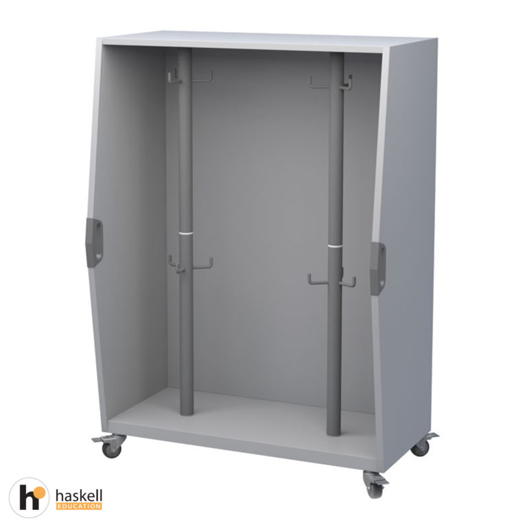 Pack Cart with 2 Rotating Columns, Magnetic White Board Backing & Locking Casters