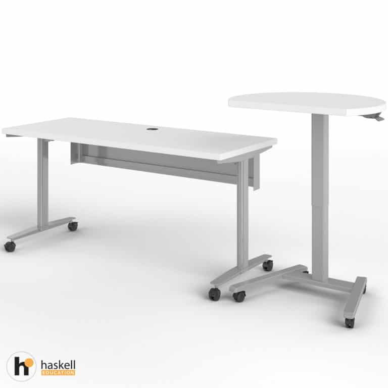 Fuzion Rectangle Table (24″ x 60″) with Companion Raised