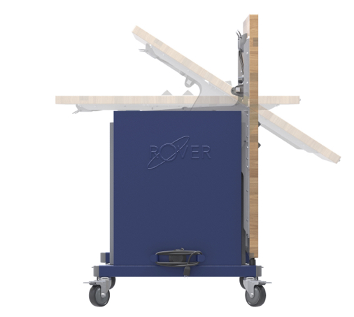 The Rover Table top rotates to allow for easy passage through doors and narrow hallways.