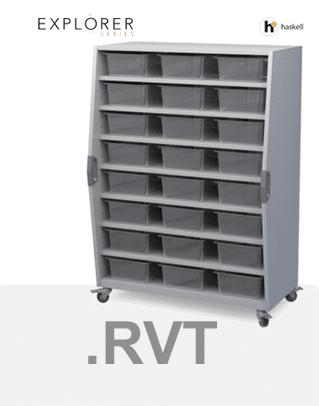 Tall Storage Cart Revit Files