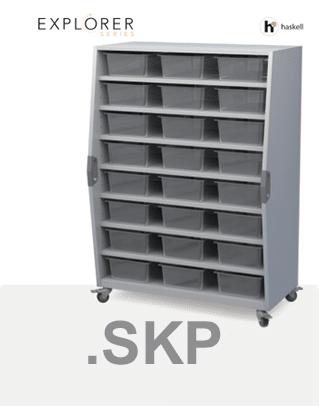 Tall Storage Cart Sketchup Files