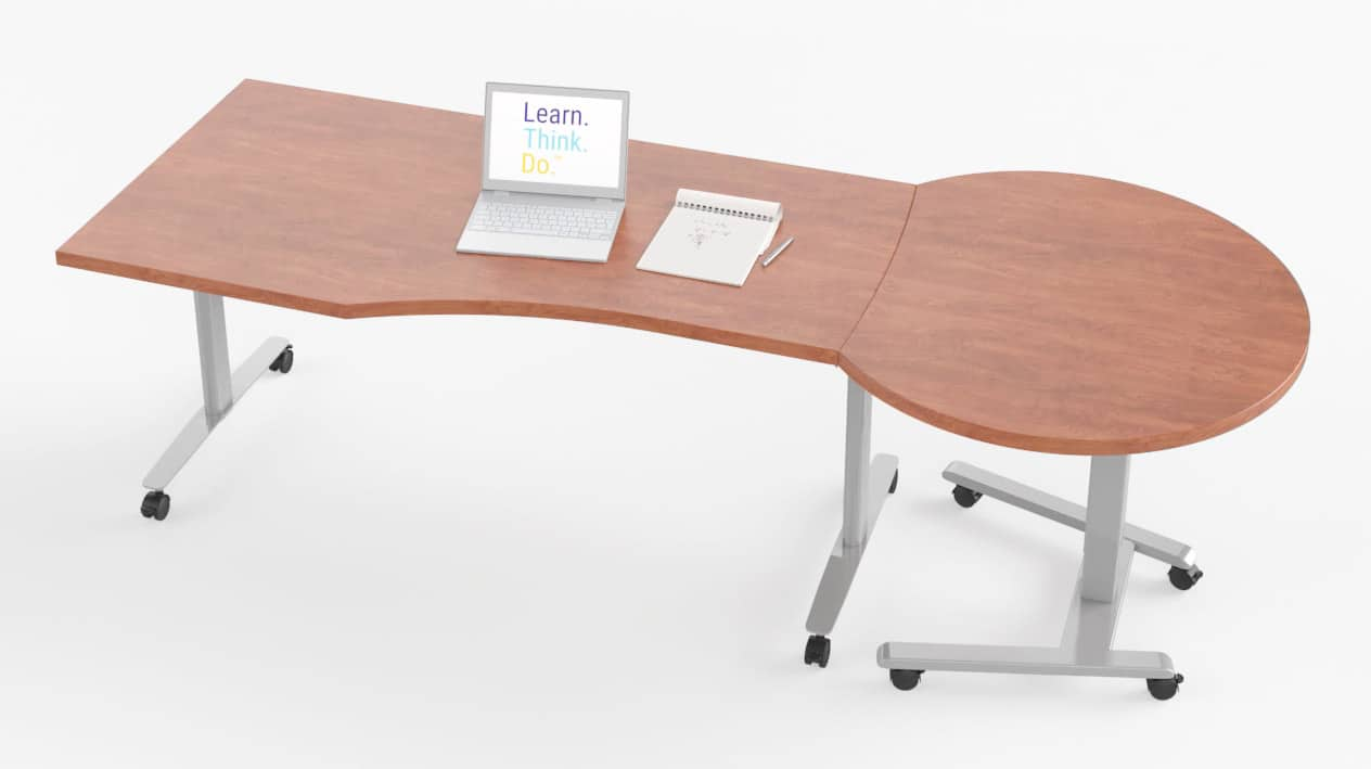 Fuzion Wave Table with Curved Podium – Windows