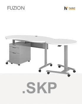 Fuzion Series Kidney Shaped Teachers Desk Sketchup Files