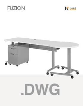 Fuzion Series Rectangular Teachers Desk AutoCAD 3D Symbols