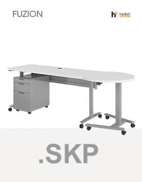 Fuzion Series Rectangular Teachers Desk Sketchup Files