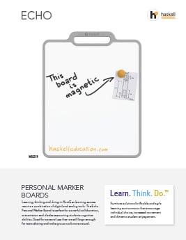 Echo Personal Marker Boards Cut Sheet