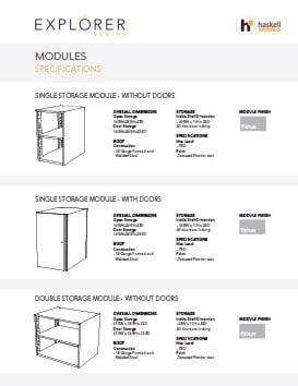 Haskell Explorer Series Modules Spec Sheet