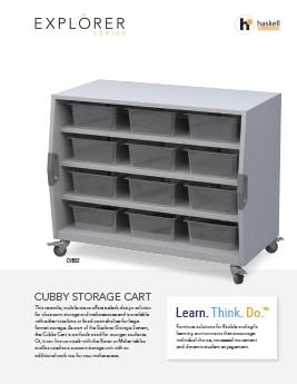 Cubby Storage Cart Cut Sheet
