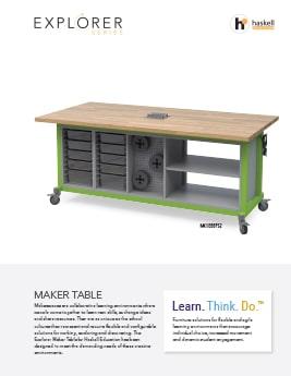 Maker Table Cut Sheet