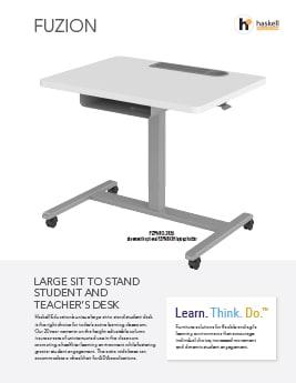 Fuzion Large Sit to Stand Cut Sheet