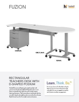 Fuzion Rectangle Desk/Podium Cut Sheet