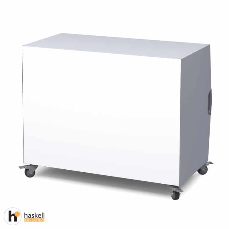 Cubby Storage Cart Magnetic White Board Backing & Locking Casters